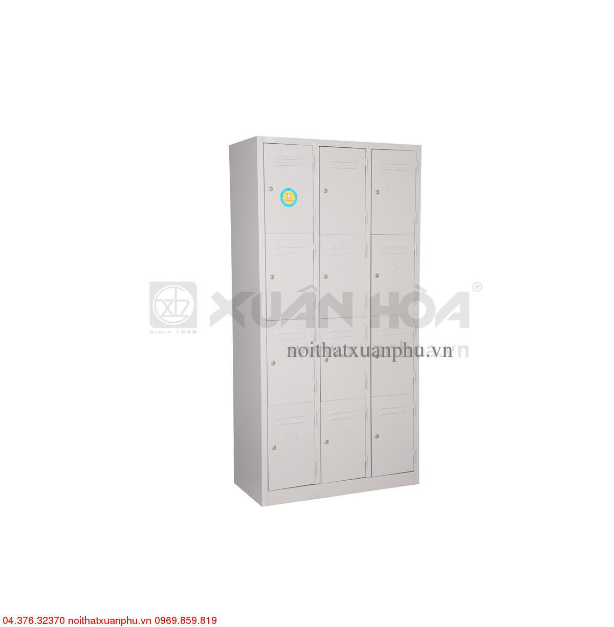 Hình ảnh sản phẩm Tủ sắt văn phòng Xuân Hòa LK-12N-03 91,5 x 45 x 183 cm