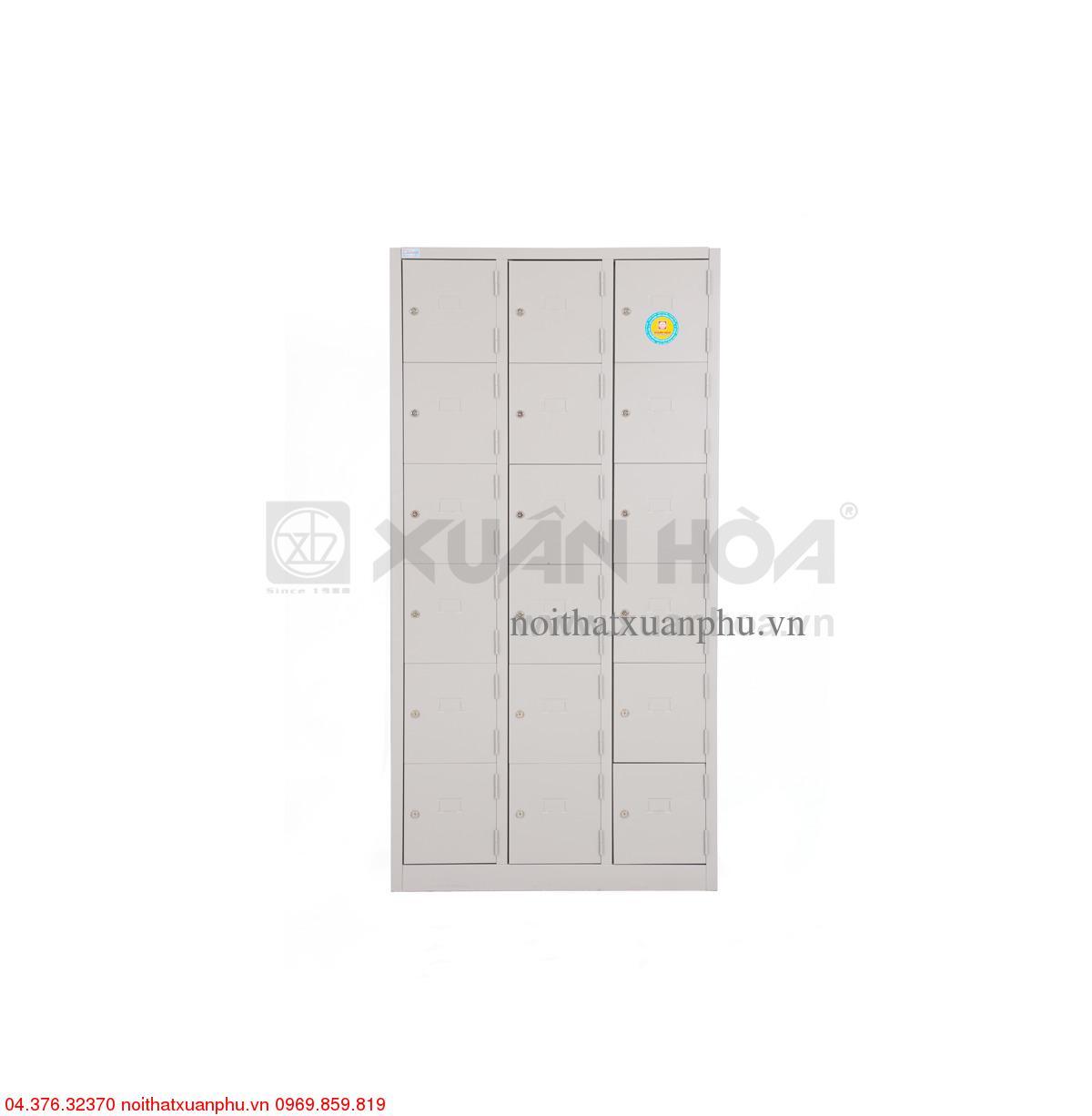 Hình ảnh sản phẩm Tủ sắt văn phòng Xuân Hòa LK-18N-03 91,5 x 45 x 183 cm