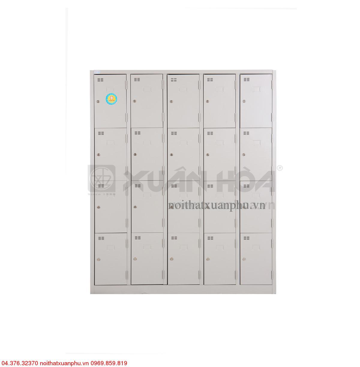 Hình ảnh sản phẩm Tủ sắt văn phòng Xuân Hòa LK-20N-05 153 x 45 x 183 cm