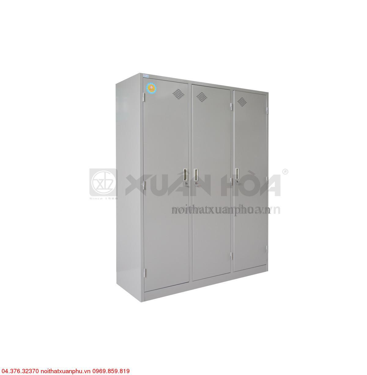Hình ảnh sản phẩm Tủ sắt quần áo Xuân Hòa hai buồng LK-3N-03XH 140 x 50 x 183 cm