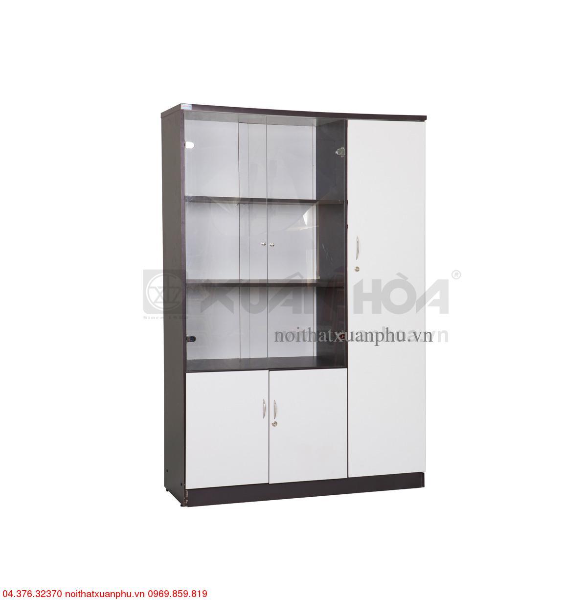 Hình ảnh sản phẩm Tủ gỗ văn phòng Xuân Hòa TG-12-00 120 x 42 x 184 cm