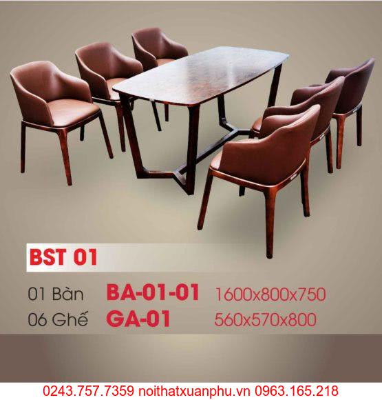 Hình ảnh sản phẩm BỘ BÀN ĂN BA-01-01 - GHẾ GA-01 PHÒNG ĂN