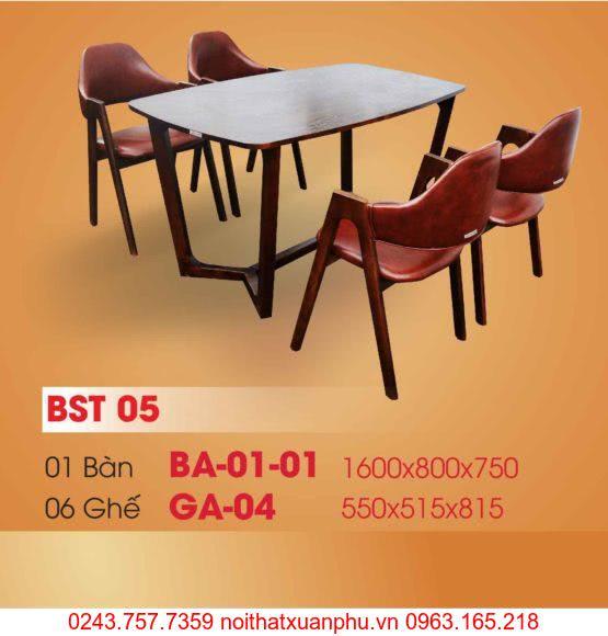 Hình ảnh sản phẩm BỘ BÀN ĂN BA-01-01 VÀ GHẾ GA-04 PHÒNG ĂN