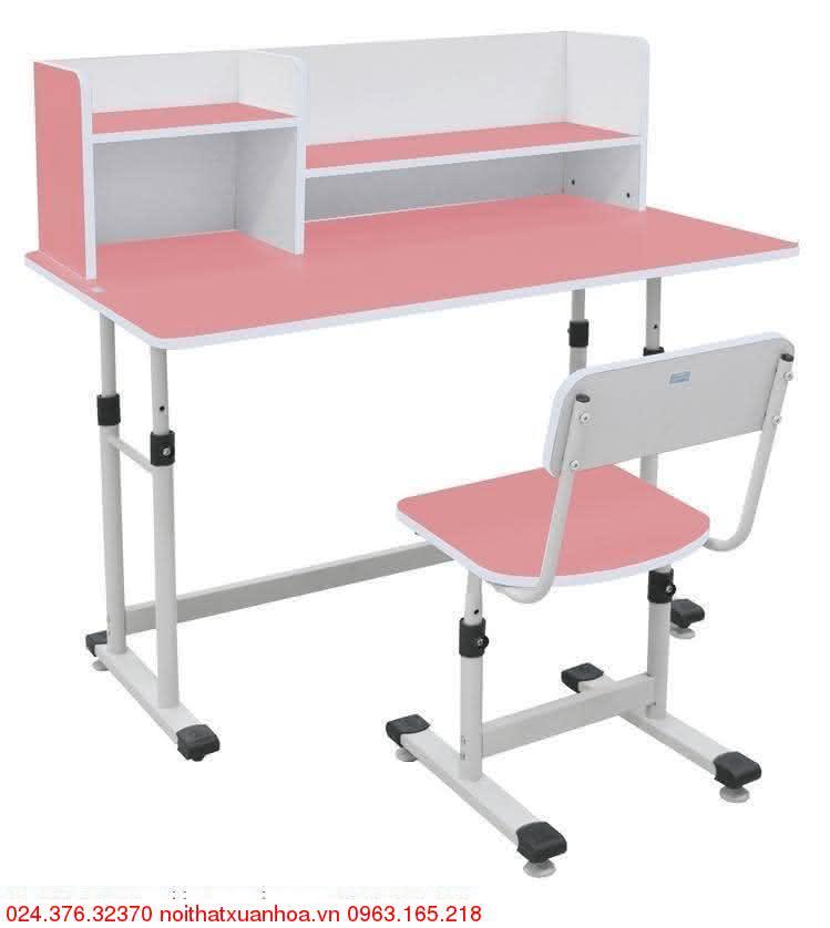 Hình ảnh sản phẩm Bộ bàn ghế học sinh BHS-13-07 HG màu hồng
