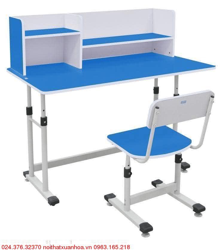 Hình ảnh sản phẩm Bộ bàn ghế học sinh BHS-13-07 XG màu xanh
