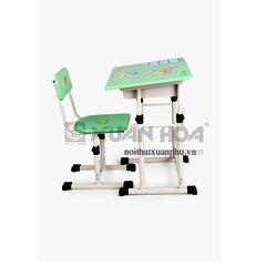 Bộ bàn ghế học sinh tiểu học Xuân Hòa BHS-13-05 PU 70 x 45 x 67-75 cm (Hồng)