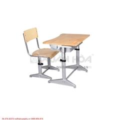 Bộ bàn ghế học sinh tiểu học Xuân Hòa BHS-14-04CS 70 x 50 x 58-73,2 cm