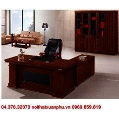 FM-1861#P bộ bàn giám đốc nội thất fami,gỗ công nghiệp phủ sơn PU