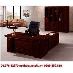 FM-1814#P bộ bàn giám đốc nội thất fami,gỗ công nghiệp phủ sơn PU