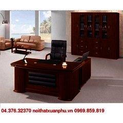 FM-1862#P bộ bàn giám đốc nội thất fami,gỗ công nghiệp phủ sơn PU