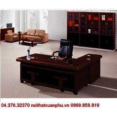 FM-2068#P bộ bàn giám đốc nội thất fami,gỗ công nghiệp phủ sơn PU