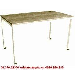 TTE1407 bàn làm việc chân sắt,mặt gỗ melamine nội thất fami