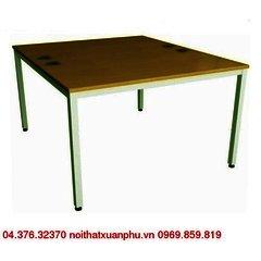 TT1212-MEL18F-MB bàn làm việc chân sắt, mặt gỗ nội thất fami