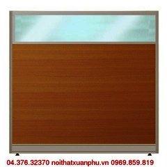 VK60 vách ngăn nội thất fami khung nhôm bọc gỗ kính