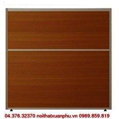 VV60 vách ngăn khung nhôm bọc gỗ kính nội thất fami