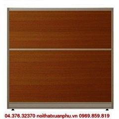 VV60KT vách ngăn nội thất fami khung nhôm ốp gỗ