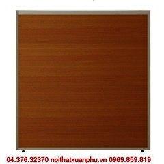 V60 vách ngăn khung nhôm ốp gỗ nội thất fami