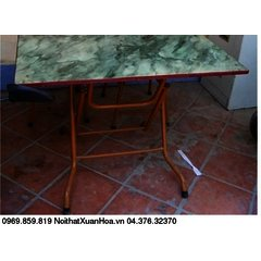 Bàn CN 1400 x 800 sơn,bàn ăn chân gấp Xuân Hoà mặt composite