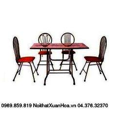 Bàn CN 1000 x 600 inox,bàn ăn chân gấp Xuân Hoà mặt composite