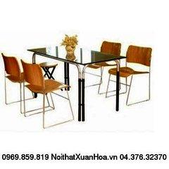 Bộ bàn phòng ăn kính BCK-01-02 Xuân Hoà