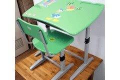 Bộ bàn ghế học sinh Xuân Hoà BHS-14-06 PU màu xanh
